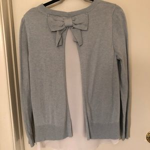 Light Blue Bow-Back Sweater